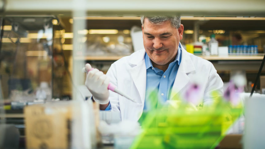 Photo of Dr. Kyle Orwig in the lab.