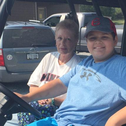 Jan Stojanovic and her grandson, Shane