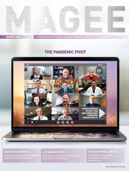 Cover of Magee Magazine Winter 2020