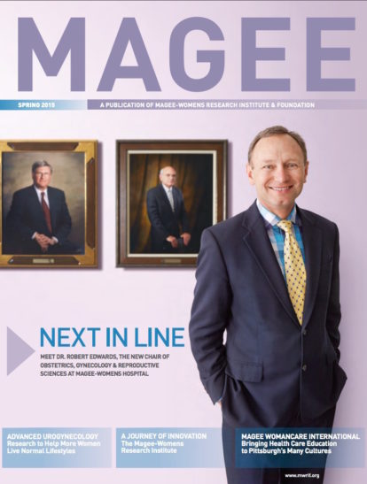Cover of Magee Magazine Spring 2015