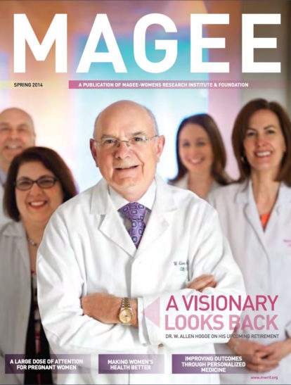 Cover of Magee Magazine Spring 2014