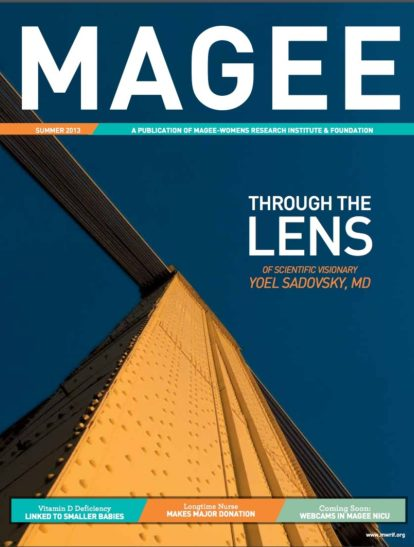 Cover of Magee Magazine Spring 2013