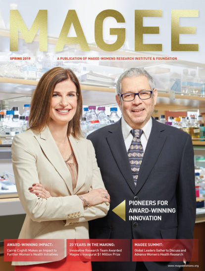 Cover of Magee Magazine Spring 2019